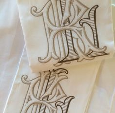 KAR - Company out of Georgia, Number Four Eleven, does amazing monograms, lines, etc.