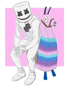 I think it's funny how people think Marshmello was a Fortnite mistake. I thought it was awesome addition. Wallpaper Iphone Disney, Galaxy Wallpaper, Iphone Wallpaper, Epic Games Fortnite, Old Pickup Trucks, Anime Furry, Gaming Wallpapers, Character Sketches, Video Game Art