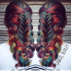 Weekly hair collection: the TOP hairstyles of the week! The HairCut Web! Top Hairstyles, Pretty Hairstyles, Braided Hairstyles, Rainbow Hairstyles, Saree Hairstyles, Trending Hairstyles, Bright Hair, Colorful Hair, Grunge Hair