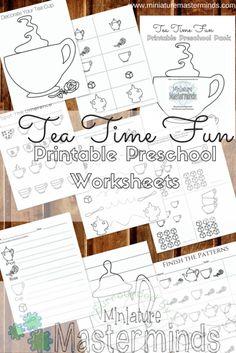 Tea Time Fun Preschool Basic Concept Worksheet Pack