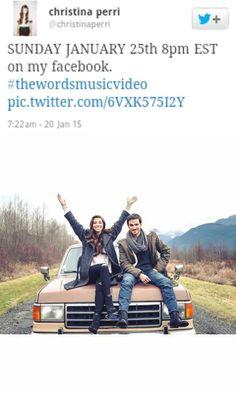"Colin O'Donoghue e Christine Perri video clip ""The Word"" 17/12/2014 If you take place like thanks Miriam"
