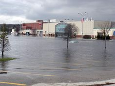 Flooding in Rhode Island during March 2010 left the Warwick Mall under several feet of water.