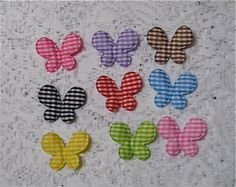 27 Padded Gingham Butterfly Appliques by NanaLetha on Etsy, $5.50