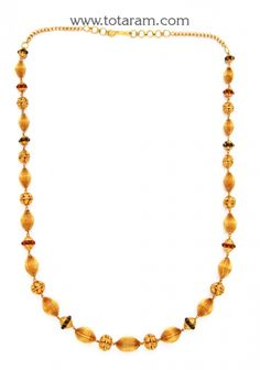 22K Gold Temple Jewellery Necklaces Indian gold jewelry Gold