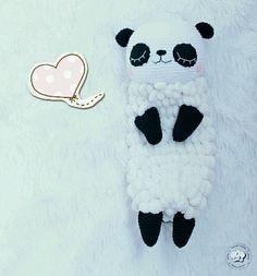 Купить Панда-пижамница - панда, панда игрушка, панда крючком, вязаная панда, панда пижамница