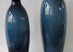 Wazon szklany Błękit nocy h-70