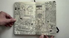 Moleskine sketchbook 18 por Mattias Adolfsson