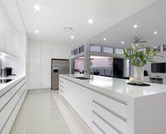 45 Top Ideas For Luxury White Kitchen Design Decor Ideas - Page 22 of 45 Modern Kitchen Interiors, Luxury Kitchen Design, Kitchen Room Design, Kitchen Cabinet Design, Luxury Kitchens, Interior Design Kitchen, Home Kitchens, Kitchen Designs, Kitchen Modern
