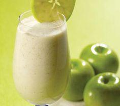 Licuado de manzana verde con avena