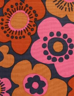 Porin puuvilla fabric design Raili Konttinen 1964-66