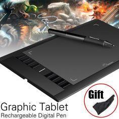 """Parblo A610 Art Digital Graphics Drawing Painting Board w/ Rechargeable Pen Tablet 10x6"""" 5080LPI with Glove"""
