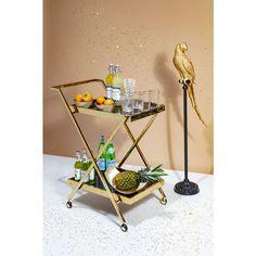 Tray Table Casino Gold - KARE Design #barcart #interiordecor #bar Whiskey Sour, Kare Design, Decor Interior Design, Interior Decorating, Clean My Space, Home Reno, Messing, New Furniture, Bar Cart