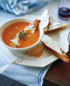 Tomato Soup with Goat Cheese Crostini & 6 other soups for fall and winter