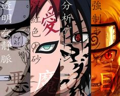 Eye of the Demon by Vineflare on deviantART | Neji, Gaara, Sasuke, and Naruto