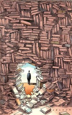 the world of books drawing – Căutare Google I Love Books, Books To Read, My Books, Illustration, World Of Books, Book Nooks, Library Books, Book Nerd, Bibliophile