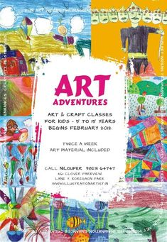 Art classes for kids Drawing Classes For Kids, Kids Art Class, Drawing For Kids, Art For Kids, Art Class Posters, Online Art Classes, Illustration Art Drawing, Art Watercolor, Kids Poster