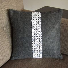 DIY Projects and Crafts Made With Buttons - Button Pillow - Easy and Quick Projects You Can Make With Buttons - Cool and Creative Crafts, Sewing Ideas and Homemade Gifts for Women, Teens, Kids and Friends - Home Decor, Fashion and Cheap, Inexpensive Fun Things to Make on A Budget http://diyjoy.com/diy-projects-buttons #inexpensivedesignerfashion #homemadegiftideassewing #inexpensivehomemadegift