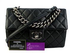 CHANEL 2way Flap Bag Black Color Caviar With Ruthenium Chain Very Good Condition  Ref-YLTC-6🏠Bangsar showroom + 6 010 220 3384 + 6 03 2095 6266 ✌Bangsar Village2 showroom + 6 012 955 3384 + 6 03 2282 0066 ✌Ampang showroom + 603 4251 0013 ✉Email- luxuryvintagekl@gmail.com