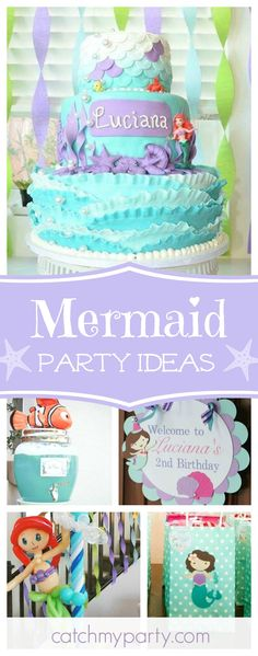 Don't miss this wonderful Under the Sea birthday party! The birthday cake is gorgeous!! See more party ideas and share yours at CatchMyParty.com
