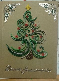 Christmas tree by quilling