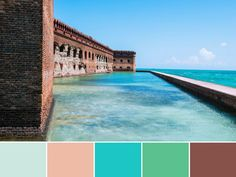 18 Color Palettes Inspired by National Parks: Dry Tortugas National Park >> http://www.hgtv.com/design/decorating/color/national-park-color-palettes-pictures?soc=pinterest