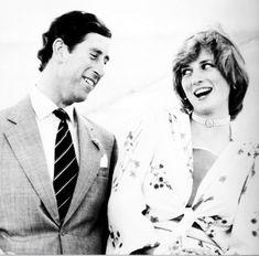 Prince Charles and Princess Diana on Honeymoon.