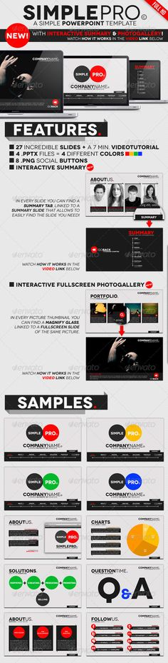 Simple Pro - PowerPoint Interactive Template - Business Powerpoint Templates