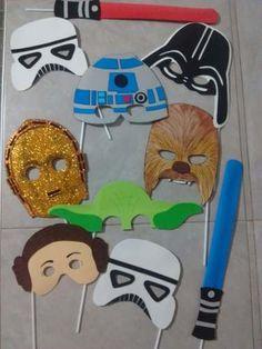 props carteles photo booth goma eva: star wars, emoticones