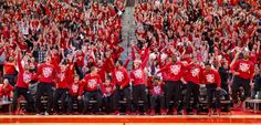 Husker fans and players celebrate after learning that NU would play in the NCAA tournament during an event at Pinnacle Bank Arena in Lincoln on Sunday, March 16, 2014. KENT SIEVERS/THE WORLD-HERALD