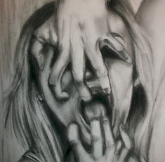 This drawing showcases the feeling of Self hatred. In my art work I wanted to incorporate this feeling. The detail in the drawing and the feeling behind it allow for a much deeper approach to the subject.