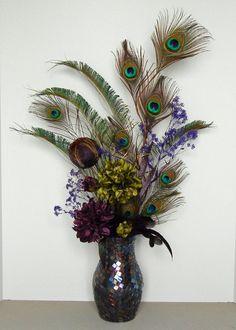 Peacock Flower Arrangements | for JEANNIE - Floral Arrangements Purple Peacock Floral Arrangement ...
