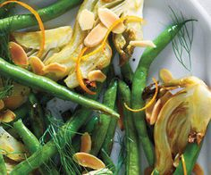 Fennel & Green Beans With Orange And Almonds