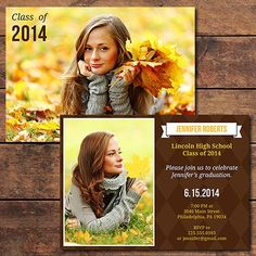 20 Modern Graduation Announcement Card Templates (Save 93%) - Photo Dough