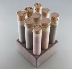 Empty SPICE SET Tubes with Concrete Base by Culinarium on Etsy, $59.00