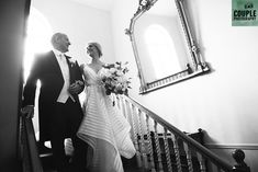 The proud father and his beautiful daughter coming down the stairs at Rathsallagh House Hotel. A real wedding by Couple Photography. Country Christmas, Christmas Wedding, Couple Photography, Wedding Photography, He's Beautiful, New Image, Wedding Pictures, Real Weddings, Father