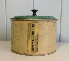 1950's Vintage Rusty Yellow and Green Biscuit by MissPeggysVintage, $30.00