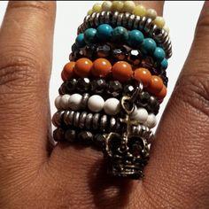 Chunky Jewelry, Diy Jewelry, Handmade Jewelry, Funky Art, Beaded Bracelets, Boho, Rings, Arm, Candy