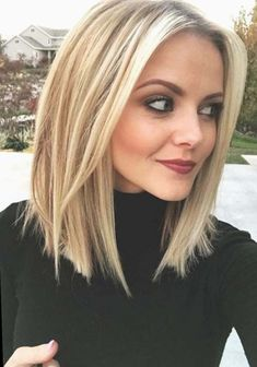 80 Sexy Long Bob Hairstyles You Should Try - Lob Ideas for Long Bob Long b. - 80 Sexy Long Bob Hairstyles You Should Try – Lob Ideas for Long Bob Long bob hairstyle or l - Easy Hairstyles For Medium Hair, Medium Hair Styles, Short Hair Styles, Medium Length Straight Hairstyles, Medium Hair Cuts Bob, Neck Length Hairstyles, Blond Medium Length Hair, Hairstyle For Medium Length Hair, Shoulder Length Hair Blonde