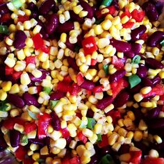 Summer is officially here and I've got the perfect simple side dish for your next BBQ. It'll take you under 10 minutes to make and looks beautiful with the colors from the corn, bell pepper, kidney beans and scallions. A simple dressing of olive oil, lime juice, salt and pepper is super refreshing on a hot day.  Lots of flavor in this Summer Corn Salad.     http://lemoinefamilykitchen.blogspot.com