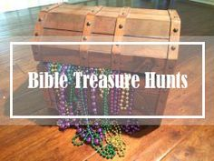 TREASURE hunts for all ages with Bible verses!  www.CreativeBibeStudy.com