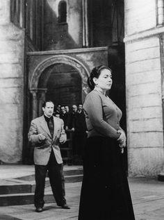 Maria Callas rehearsing!