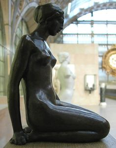 'Femme accroupie' - Aristide Maillol | French sculptor, painter, and printmaker | 1861-1944