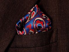Pocket Square Style 01 of Royal Paisley Collection by AManOfStyle