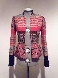 Hmong fitted long sleeve jacket by Xweets on Etsy