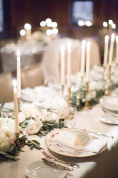 Classic + romantic winter wedding tablescape: http://www.stylemepretty.com/2016/03/10/blackberry-farm-winter-wedding/ | Photography: Natalie Watson - http://nataliewatsonphotography.com/