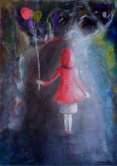 Start in the adult life - Painting,  50x70x2 cm ©2015 przez Maga Smolik -  Malarstwo