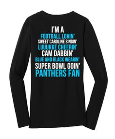 Limited Edition Carolina Panthers Super Bowl Long Sleeve