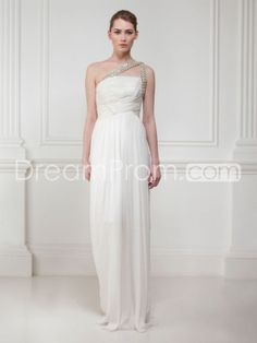 Buy Cheap Cheap Fantastic Empire One-Shoulder Floor-length Beaded Wedding Dresses CH205379 Wedding Dresses under $226.49 only in Udressprom.