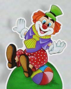Display de Mesa Palhacinhos Clown Party, Shark Party, Clown Crafts, Clown Paintings, Cute Clown, School Painting, Send In The Clowns, Clowning Around, Cosplay Diy