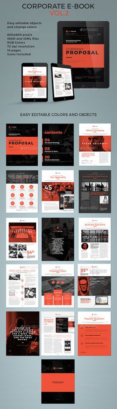 Corporate E-book Template #design Download: http://graphicriver.net/item/corporate-ebook-template-vol2/12440752?ref=ksioks
